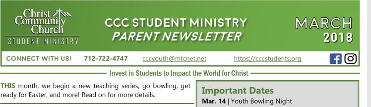 March Newsletter Graphic